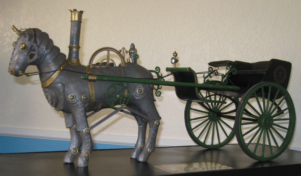 Completed steamhorse with cart
